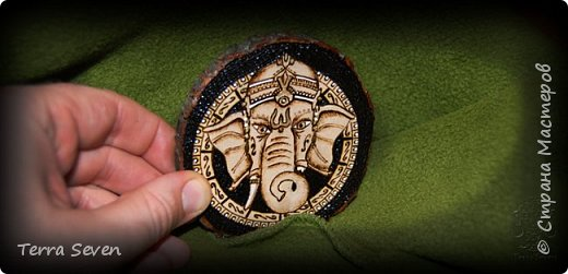"""""""Ganesha"""" Pyrography and Design by T7 фото 2"""