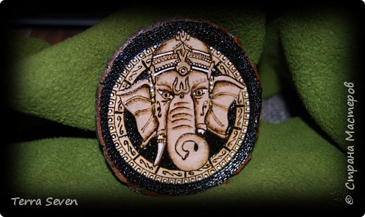 """""""Ganesha"""" Pyrography and Design by T7 фото 1"""