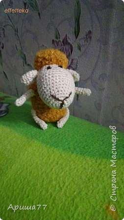 У знакомой внук родился - попросили погремушку  Ну вот - овечка получилась фото 1