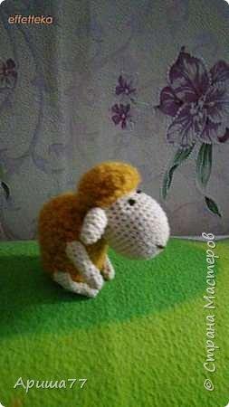 У знакомой внук родился - попросили погремушку  Ну вот - овечка получилась фото 2