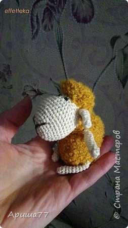 У знакомой внук родился - попросили погремушку  Ну вот - овечка получилась фото 3