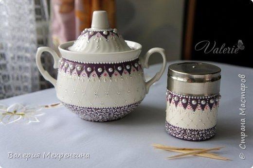 Кухонный набор состоит из чайного домика, салфетницы, сахарницы и зубочистницы ))) ну или баночки для зубочисток ))) фото 8