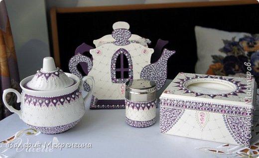 Кухонный набор состоит из чайного домика, салфетницы, сахарницы и зубочистницы ))) ну или баночки для зубочисток ))) фото 1