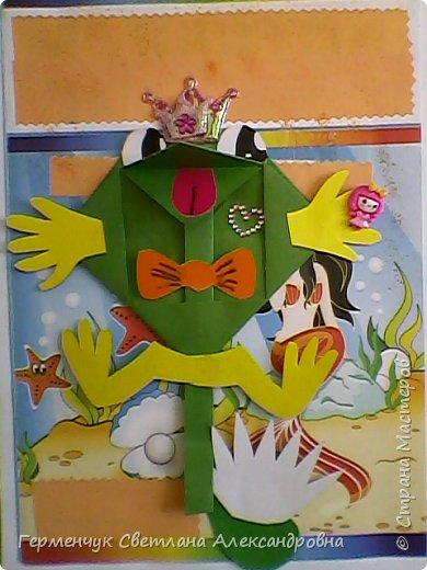 С приходом  весны  развеселились   лягушата и устроили веселый танец С ребятами  4 класса  сделали динамическую  поделку ,которую увидела на странице Сак Натальи Александровны ,немного усовершенствовали       и представляем Вам наших лягушек - мальчиков и девочек. фото 7