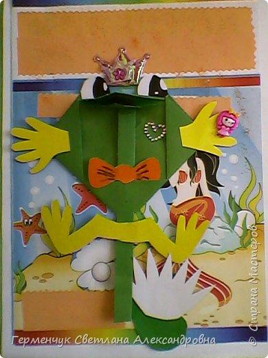 С приходом  весны  развеселились   лягушата и устроили веселый танец С ребятами  4 класса  сделали динамическую  поделку ,которую увидела на странице Сак Натальи Александровны ,немного усовершенствовали       и представляем Вам наших лягушек - мальчиков и девочек. фото 8