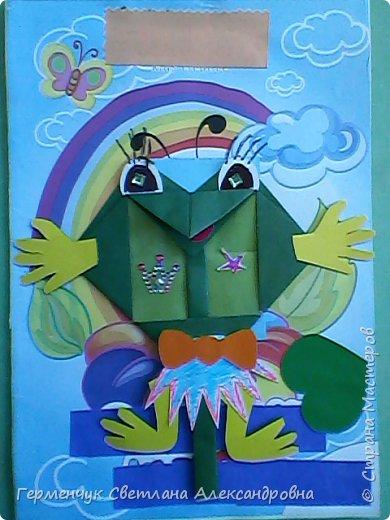 С приходом  весны  развеселились   лягушата и устроили веселый танец С ребятами  4 класса  сделали динамическую  поделку ,которую увидела на странице Сак Натальи Александровны ,немного усовершенствовали       и представляем Вам наших лягушек - мальчиков и девочек. фото 11