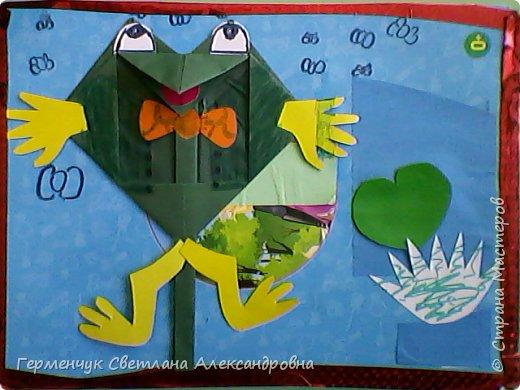 С приходом  весны  развеселились   лягушата и устроили веселый танец С ребятами  4 класса  сделали динамическую  поделку ,которую увидела на странице Сак Натальи Александровны ,немного усовершенствовали       и представляем Вам наших лягушек - мальчиков и девочек. фото 17