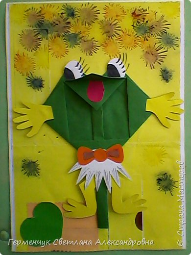 С приходом  весны  развеселились   лягушата и устроили веселый танец С ребятами  4 класса  сделали динамическую  поделку ,которую увидела на странице Сак Натальи Александровны ,немного усовершенствовали       и представляем Вам наших лягушек - мальчиков и девочек. фото 19