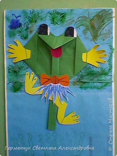 С приходом  весны  развеселились   лягушата и устроили веселый танец С ребятами  4 класса  сделали динамическую  поделку ,которую увидела на странице Сак Натальи Александровны ,немного усовершенствовали       и представляем Вам наших лягушек - мальчиков и девочек. фото 22