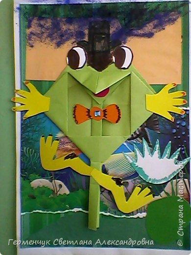 С приходом  весны  развеселились   лягушата и устроили веселый танец С ребятами  4 класса  сделали динамическую  поделку ,которую увидела на странице Сак Натальи Александровны ,немного усовершенствовали       и представляем Вам наших лягушек - мальчиков и девочек. фото 23