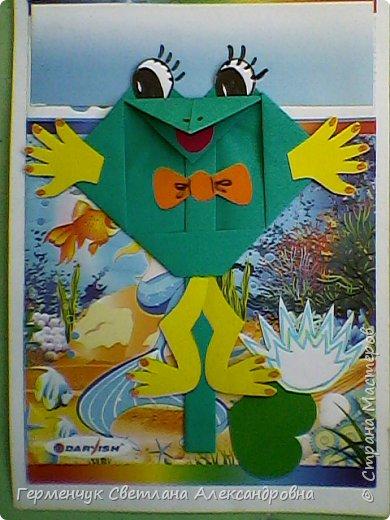 С приходом  весны  развеселились   лягушата и устроили веселый танец С ребятами  4 класса  сделали динамическую  поделку ,которую увидела на странице Сак Натальи Александровны ,немного усовершенствовали       и представляем Вам наших лягушек - мальчиков и девочек. фото 29