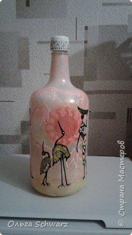 Добрый вечер,жители и гости страны!  Вот такая бутылка у меня родилась. Немного Африки в отдельно взятой квартире. фото 3