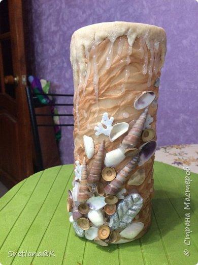 Вот такая вазочка у меня получилась, практически из ничего.... фото 6