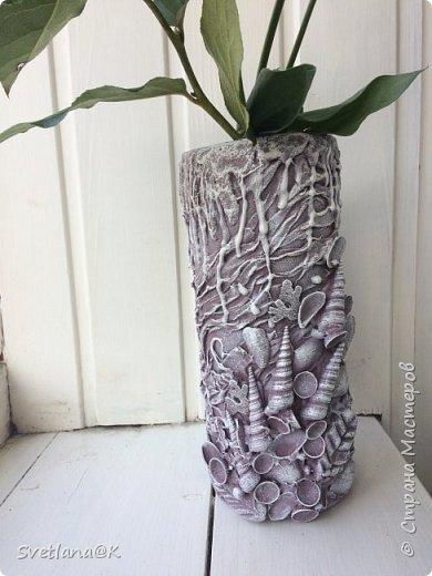Вот такая вазочка у меня получилась, практически из ничего.... фото 9