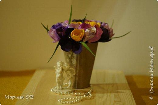 Букет крокусов из фоамирана фото 3