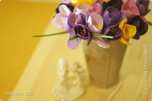 Букет крокусов из фоамирана фото 4