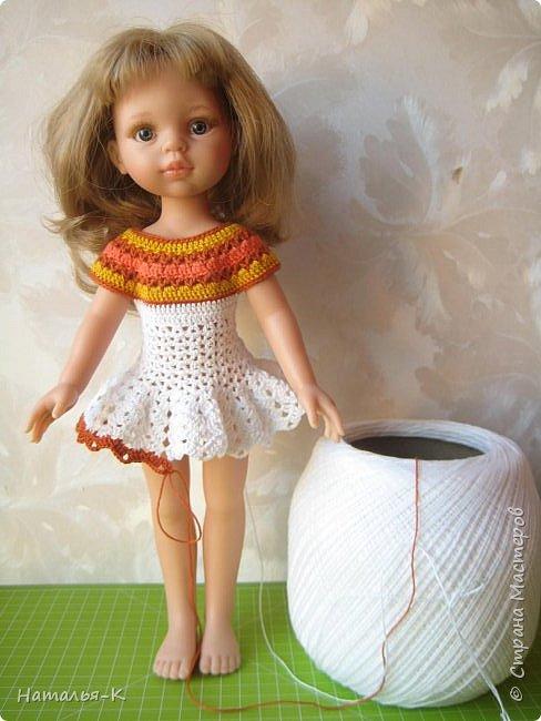 Здравствуйте дорогие мастерицы! Сегодня я пришла показать вам мою Паолочку в новом платье. Связала по МК Оксаны Лифенко.  фото 5