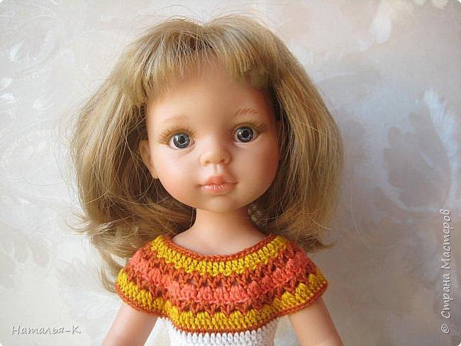 Здравствуйте дорогие мастерицы! Сегодня я пришла показать вам мою Паолочку в новом платье. Связала по МК Оксаны Лифенко.  фото 3