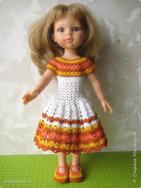 Здравствуйте дорогие мастерицы! Сегодня я пришла показать вам мою Паолочку в новом платье. Связала по МК Оксаны Лифенко.  фото 1