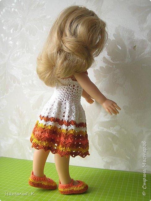 Здравствуйте дорогие мастерицы! Сегодня я пришла показать вам мою Паолочку в новом платье. Связала по МК Оксаны Лифенко.  фото 2