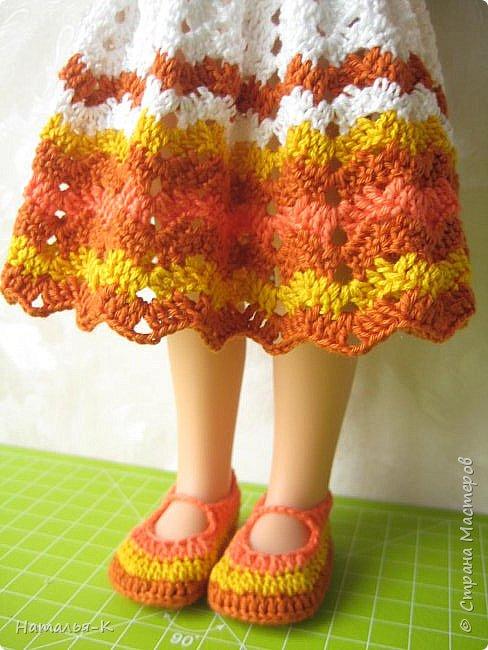 Здравствуйте дорогие мастерицы! Сегодня я пришла показать вам мою Паолочку в новом платье. Связала по МК Оксаны Лифенко.  фото 6