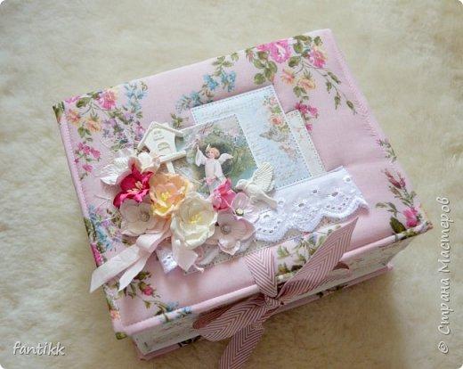 Текстильная коробка с ящичком фото 1