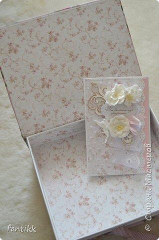 Текстильная коробка с ящичком фото 4