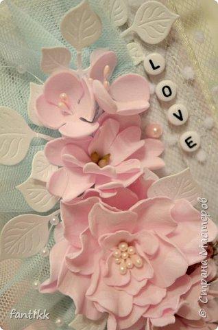 Цветы выполнены вручную из фоамирана. фото 2