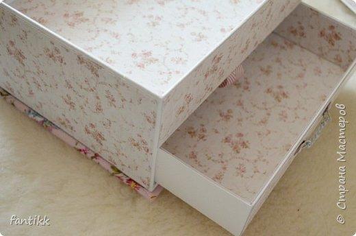 Текстильная коробка с ящичком фото 2