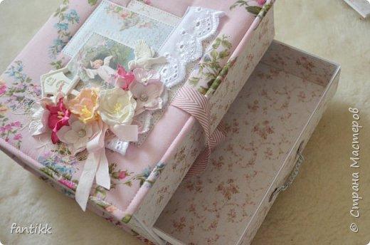 Текстильная коробка с ящичком фото 5