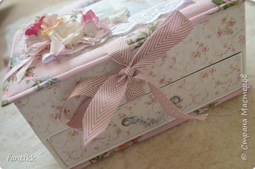 Текстильная коробка с ящичком фото 3