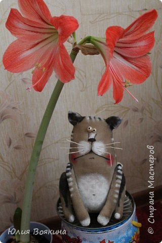 Здравствуйте! Сшила котейку в подарок маленькой девочке на 8 марта. фото 2