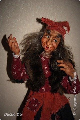 """Говорят,что в доме должна быть баба-Яга.Она якобы своим видом злых духов отгоняет.Вот я и решила попробовать создать такую""""красоту"""" фото 1"""