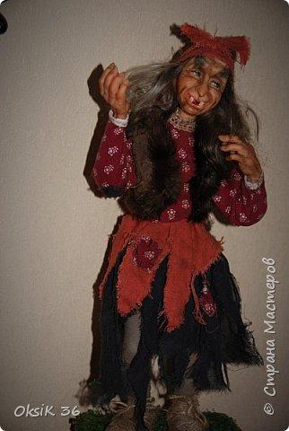 """Говорят,что в доме должна быть баба-Яга.Она якобы своим видом злых духов отгоняет.Вот я и решила попробовать создать такую""""красоту"""" фото 4"""