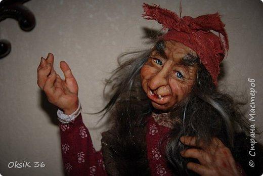 """Говорят,что в доме должна быть баба-Яга.Она якобы своим видом злых духов отгоняет.Вот я и решила попробовать создать такую""""красоту"""" фото 6"""