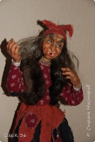 """Говорят,что в доме должна быть баба-Яга.Она якобы своим видом злых духов отгоняет.Вот я и решила попробовать создать такую""""красоту"""" фото 7"""