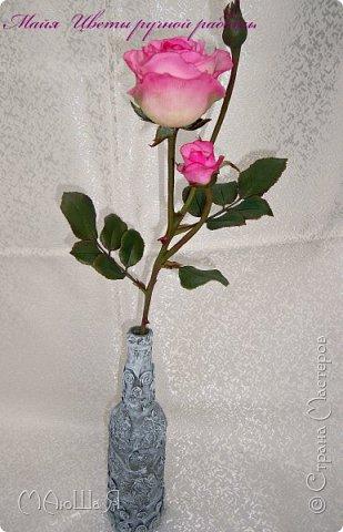 Здравствуйте жители страны! На этот раз розы. И немного фото из моего интервью по керамической флористике! Пионовидная роза, спасибо Инне Голубевой за мастер-класс и вдохновение!!!!!! фото 9
