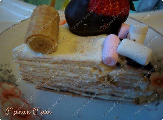 Очень простой в исполнении торт для тех, кто хочет сладенького к чаю и немедленно))))  фото 3