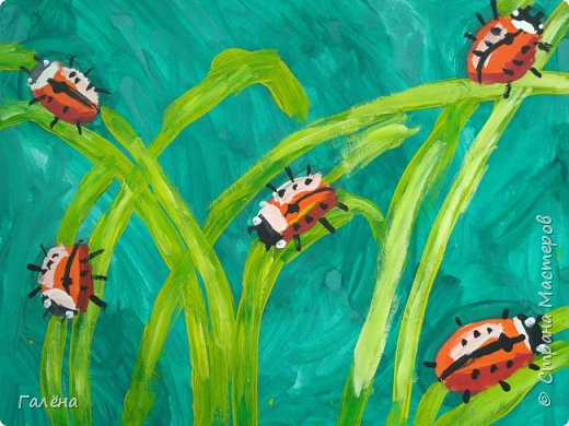 Как,иногда, приятно зимой,ранней весной вспомнить о теплом лете.Божьи коровки,наверное,самые яркие представители этого времени года.И их так легко и интересно рисовать деткам.А всего то надо,найти лист бумаги и гуашевые краски.И так,приступим! фото 31