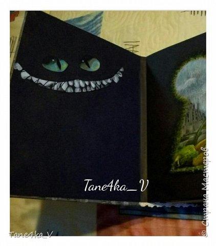 """Скрапбукинг фотоальбом. Тема """"Алиса в стране чудес"""". фото 4"""