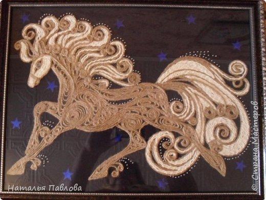 Давно мечтала сделать коня на фоне звездного неба, и вот сделала..... фото 3