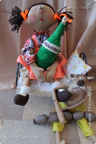Добрый день! Представляю вам хитрого котика Барсика и его хозяйку. Сюжет Татьяны Козыревой. Хитрит Барсик, притворяется больным, стонет и мяукает... фото 7