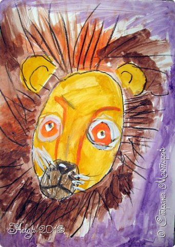 Накопилось много детских работ за разные месяцы, вот часть из них решила показать вам. Творили дети  5,5-7 лет. Первая работа собака породы хаска, рисовали соусом, сангиной, углем, мелом и белой гуашью на листе А3. фото 35