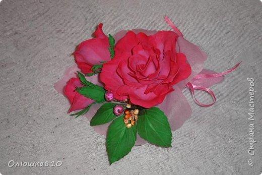 Восьмимартовские букетики роз из фома фото 2