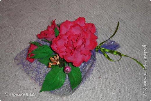 Восьмимартовские букетики роз из фома фото 3