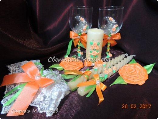 Доброго времени суток Мастера и Мастерицы! На заказ делала набор для свадьбы. Когда сделала, задумалась как унесет невеста всю эту красоту? И...нашла МК Мышечки и вот что получилось. фото 2
