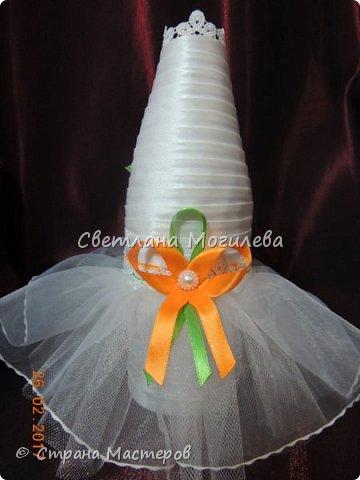 Доброго времени суток Мастера и Мастерицы! На заказ делала набор для свадьбы. Когда сделала, задумалась как унесет невеста всю эту красоту? И...нашла МК Мышечки и вот что получилось. фото 6
