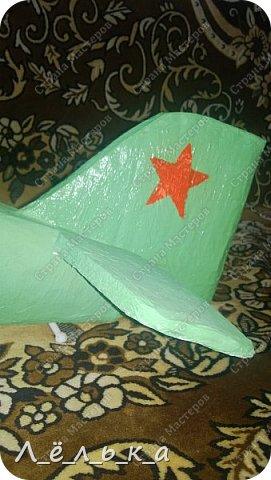 """Всех приветствую. Для своих деток и """"луну с неба"""" и самолет и пенопласта ))))). Модель самолета ко дню гражданской авиации в детский сад. Было задание сделать большую модель (50 см х 50 см) самолета 20-х годов. фото 19"""