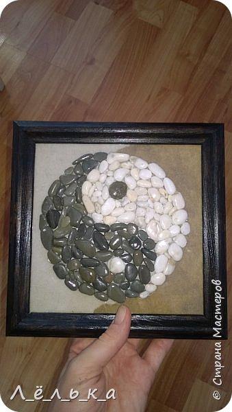 Инь-Янь из морской гальки (белая и черная) фото 1