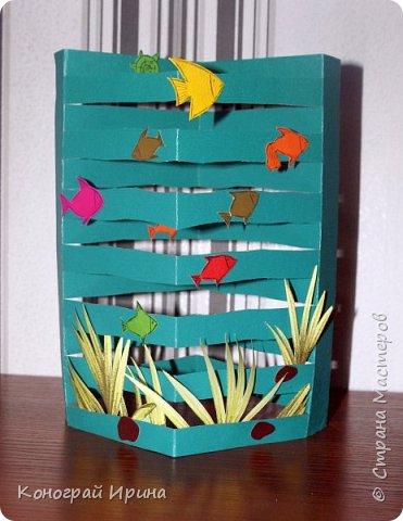 Для поделки понадобилось: цветной картон, цветная бумага, клей, ножницы. фото 11